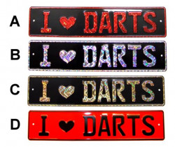 I Love Darts KFZ Schild