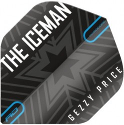 "Gerwyn Price ""The Iceman"" Black & Grey Snowflake Flights"